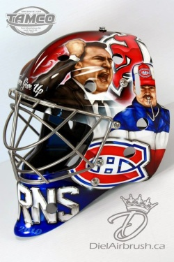 Pat Burns hockey mask